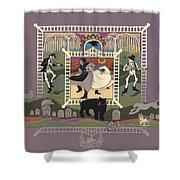 Cemetery Stomp Shower Curtain