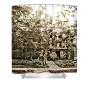 Cemetery Sunflares Shower Curtain