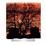 Cemetery Sunset Shower Curtain