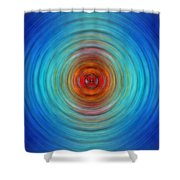 Center Point - Abstract Art By Sharon Cummings Shower Curtain