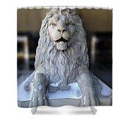 Center Street Lion Shower Curtain