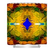 Centered In Peace Abstract Pattern Artwork By Omaste Witkowski Shower Curtain