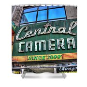 Central Camera Shower Curtain