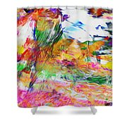 Central Ethiopia Shower Curtain