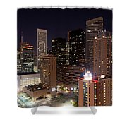 Central Houston At Night Shower Curtain