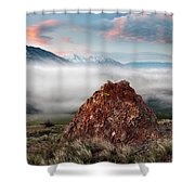 Central Idaho Mountain Morning Shower Curtain