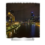 Central Melbourne Skyline In Australia Shower Curtain