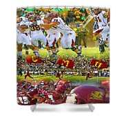Central Michigan Football Collage Shower Curtain