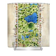 Central Park And All That Surrounds It Shower Curtain