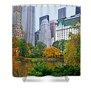 Central Park And Fifth Autumn View Shower Curtain