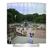 Central Park - Bethesda Fountain Shower Curtain