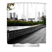 Central Park Bridge 2 Shower Curtain
