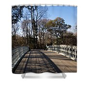 Central Park Bridge Shadows Shower Curtain