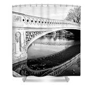 Central Park Bridges Bow Bridge Spanning Lake Shower Curtain