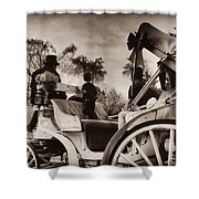Central Park Carriage Ride - Antique Appeal Shower Curtain