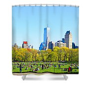 Central Park Panoramic View Shower Curtain