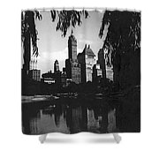 Central Park Evening View Shower Curtain