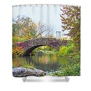 Central Park Gapstow Bridge Autumn II Shower Curtain