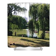 Central Park In The Summer Shower Curtain