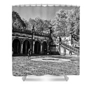 Central Park - Near Bethesda Fountain Shower Curtain