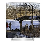 Central Park Photo Op 2 - Nyc Shower Curtain by Madeline Ellis