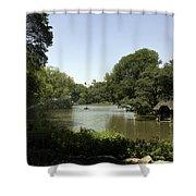 Central Park Pond Shower Curtain
