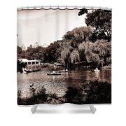 Central Park Rowing - New York City Shower Curtain