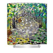 Central Park Serenity Shower Curtain
