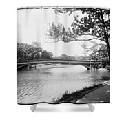 Central Park The Lake Shower Curtain