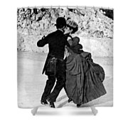 Central Park Victorian Skaters  Shower Curtain