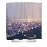 Central Park West Pano Shower Curtain
