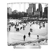 Central Park Winter Carnival Shower Curtain