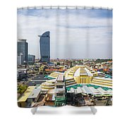 Central Phnom Penh In Cambodia Shower Curtain
