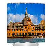 Central Railroad Of New Jersey Terminal Shower Curtain