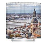 Central Riga Shower Curtain
