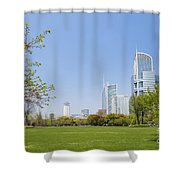 Central Shanghai In China Shower Curtain