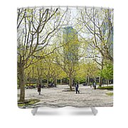 Central Shanghai Park In China Shower Curtain