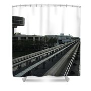 Central Train Station - Des Moines Shower Curtain