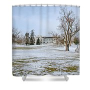 Centre Family Dwelling - Shaker Village Shower Curtain
