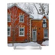 Century Home In Winter 3 Shower Curtain