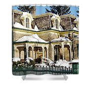 Century Home In Winter Shower Curtain
