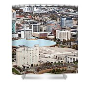 Century II Convention Hall And Downtown Wichita Shower Curtain