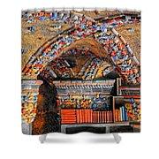 Ceramic Pillars Shower Curtain