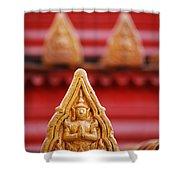 Ceramic Prayer Shower Curtain