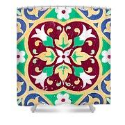 Ceramic Tile Closeup Shower Curtain