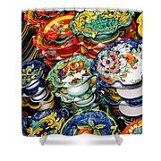 Ceramics Of Vietri Sul Mare  Shower Curtain