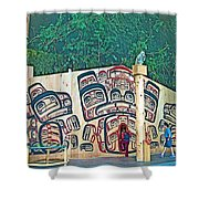 Ceremonial Lodge In Canadian Museum Of Civilization In Gatineau- Shower Curtain