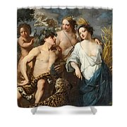Ceres Bacchus And Venus Shower Curtain