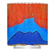 Cerro Pedernal Original Painting Sold Shower Curtain