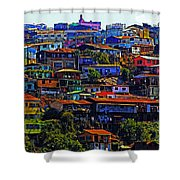 Cerro Valparaiso Shower Curtain